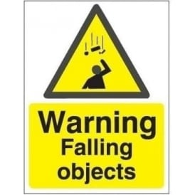 Warning falling objects sign