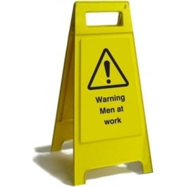 Warning Men at Work Free Standing Floor Sign