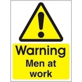 Warning Men at Work Sign