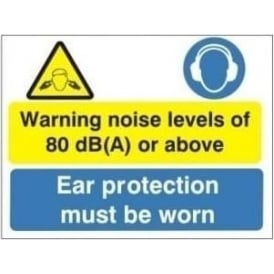 Warning noise levels of 80 dB (A) or above Sign