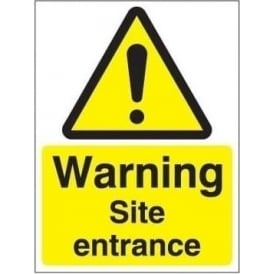 Warning site entrance sign