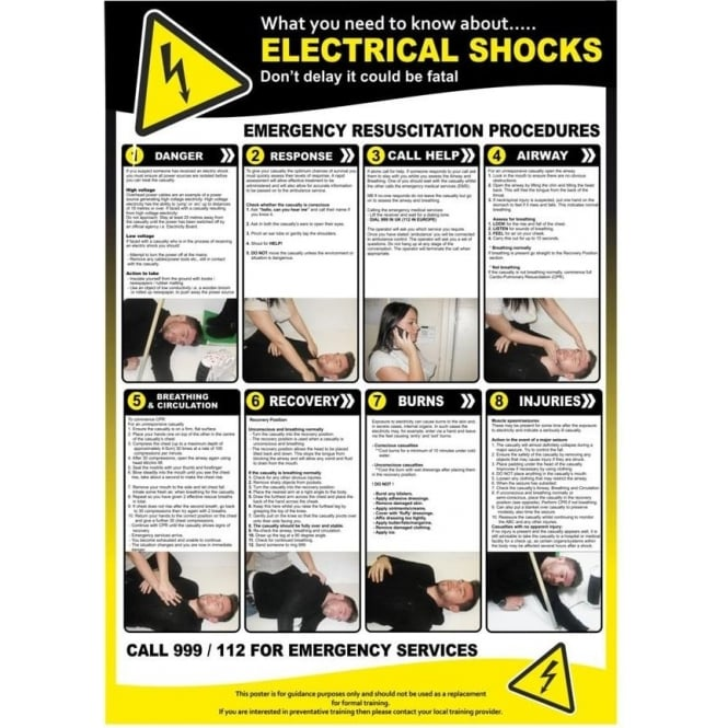 What you need to know... Electrical Shocks Poster