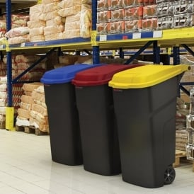 Wheelie Bin with Coloured Lid for Recycling Cap: 100lt