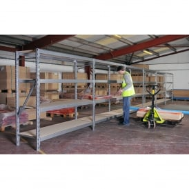 Wide Span Racking with chipboard shelves