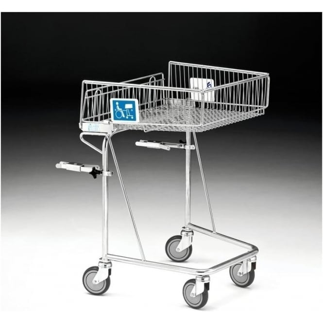 Wire Shopping Trolley for wheelchair users Cap: 62lt