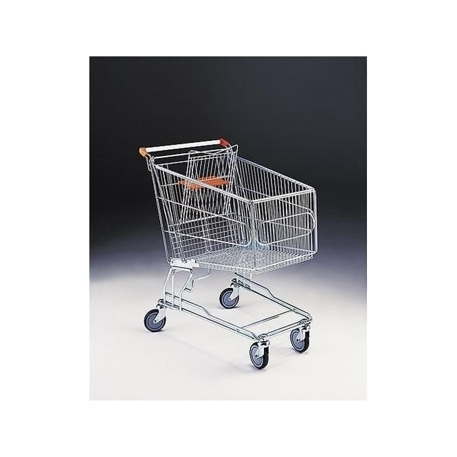 Wire Shopping Trolley with baby seat Cap: 180lt