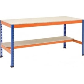 Workbenches with Lower Half Shelf or Two Lower Half Shelves