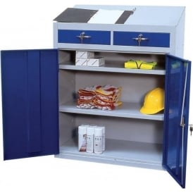 Workstation Cupboard with sloping worktop