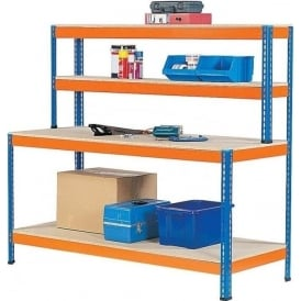 Workstations With Lower Shelves