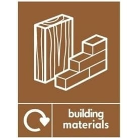 Wrap Recycling Labels & Signs: Building Materials