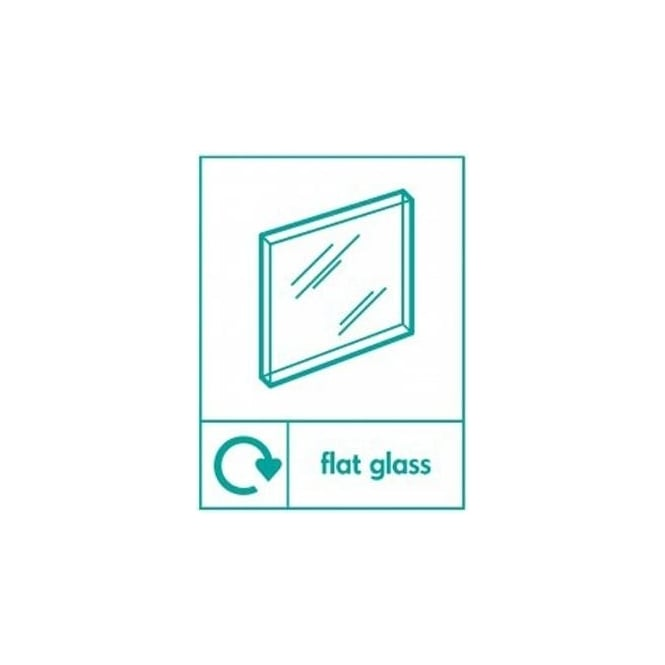 Wrap Recycling Labels & Signs: Flat Glass