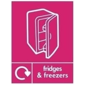 Wrap Recycling Labels & Signs: Fridges & Freezers