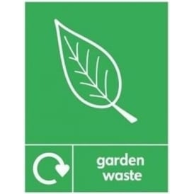 Wrap Recycling Labels & Signs: Garden Waste