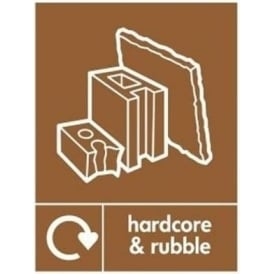 Wrap Recycling Labels & Signs: Hardcore & Rubble