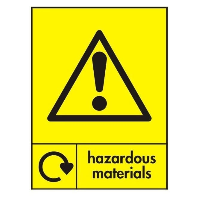 Wrap Recycling Labels & Signs: Hazardous Materials