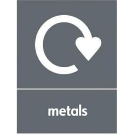 Wrap Recycling Labels & Signs: Metals