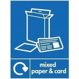 Wrap Recycling Labels & Signs: Mixed Paper & Card