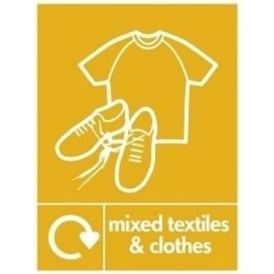 Wrap Recycling Labels & Signs: Mixed Textiles & Clothes