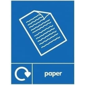 Wrap Recycling Labels & Signs: Paper