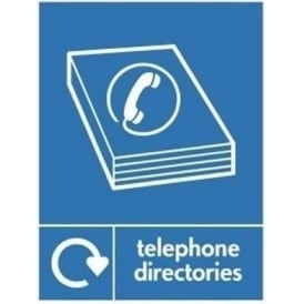 Wrap Recycling Labels & Signs: Telephone Directories