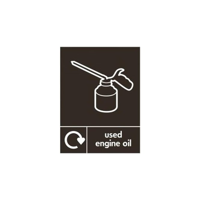 Wrap Recycling Labels & Signs: Used Engine Oil