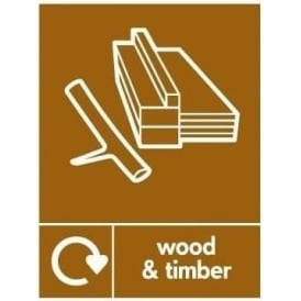 Wrap Recycling Labels & Signs: Wood & Timber