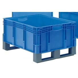 XL Euro Containers with open top and fork entry shoes