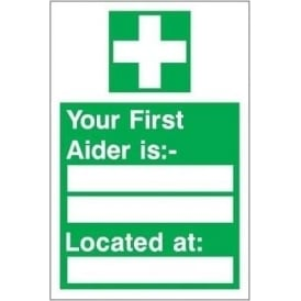 Your first aider is...Sign