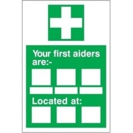 Your First Aiders are... Sign