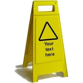 Your Text Here Free Standing Floor Sign