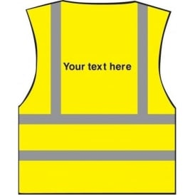 *Your Text Here* Personalised Printed Hi-visibility Waistcoat Vest