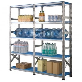 Zinc Plated Shelving with plastic shelves